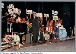 Primary view of object titled '[Black Music and the Civil Rights Movement Concert Photograph 20]'.