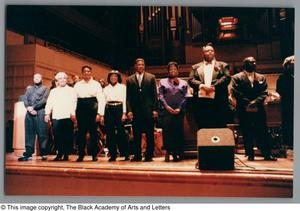 Primary view of object titled '[Black Music and the Civil Rights Movement Concert Photograph 30]'.