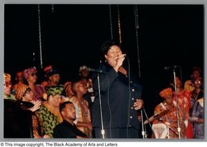 Primary view of object titled '[Black Music and the Civil Rights Movement Concert Photograph 21]'.