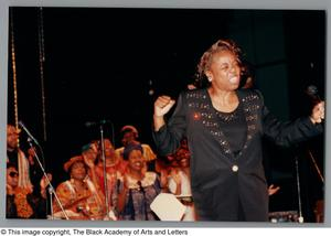 Primary view of object titled '[Black Music and the Civil Rights Movement Concert Photograph 25]'.