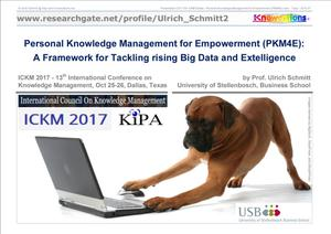Primary view of object titled 'Personal Knowledge Management for Empowerment (PKM4E) Framework to tackle the Abundance of Big Data and Intelligence'.