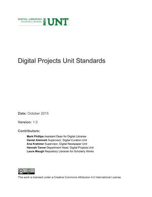 Primary view of object titled 'Appendix K: Digital Projects Unit Standards'.