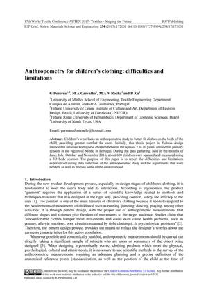 Anthropometry for Children's Clothing: Difficulties and Limitations