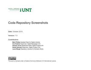 Primary view of object titled 'Appendix N: Coda Repository Screenshots'.