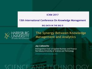 Primary view of object titled 'The Synergy Between Knowledge Management and Analytics'.