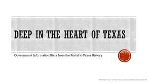 Primary view of object titled 'Deep in the Heart of Texas: Government Information Stars from the Portal to Texas History'.