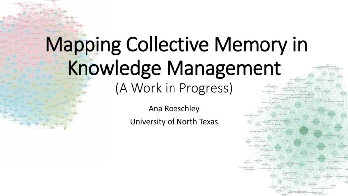 mapping collective memory in knowledge management digital library