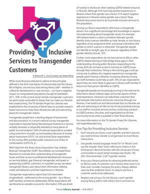 Primary view of object titled 'Providing Inclusive Services to Transgender Customers'.