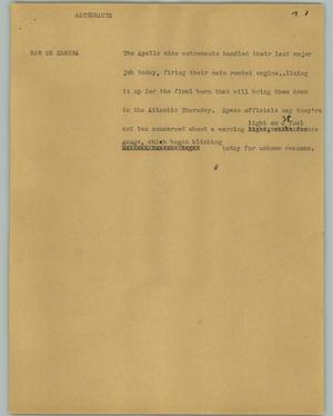 Primary view of object titled '[News Script: Astronauts]'.