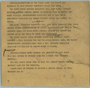 Primary view of object titled '[News Script: Committees]'.