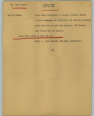 Primary view of object titled '[News Script: Calif Snow]'.