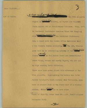 Primary view of object titled '[News Script: NCAA]'.