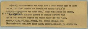 Primary view of object titled '[News Script: B-52]'.