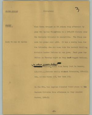 Primary view of object titled '[News Script: Chaparrals]'.
