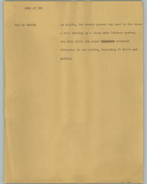 Primary view of object titled '[News Script: News at Ten]'.