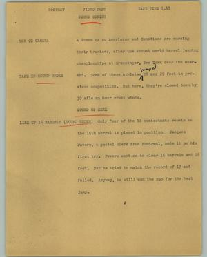 Primary view of object titled '[News Script: Contest]'.