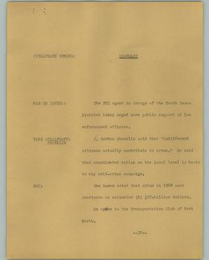 Primary view of object titled '[News Script: Shanklin]'.