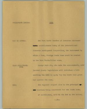 Primary view of object titled '[News Script: Peck]'.