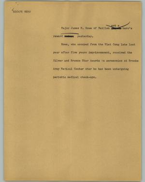 Primary view of object titled '[News Script: Escape Hero]'.
