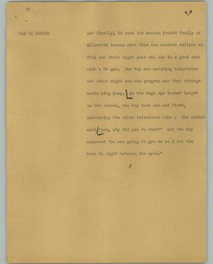 Primary view of object titled '[News Script: TV]'.