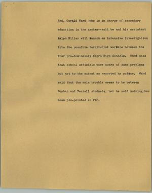 Primary view of object titled '[News Script: Gerald Ward]'.