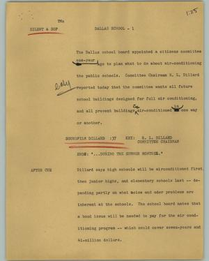 Primary view of object titled '[News Script: Dallas School]'.