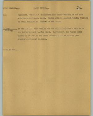 Primary view of object titled '[News Script: Beasley]'.