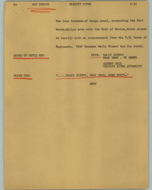 Primary view of object titled '[News Script: Trinity River]'.