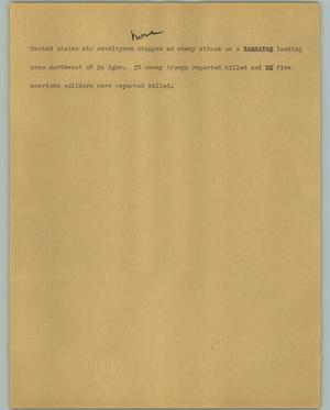 Primary view of object titled '[News Script: Cavalrymen]'.