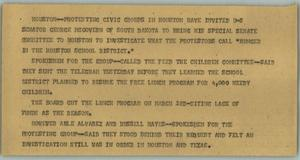 Primary view of object titled '[News Script: Protests]'.