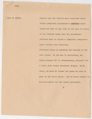 Primary view of object titled '[News Script: Pres]'.