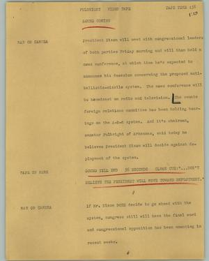 Primary view of object titled '[News Script: Fulbright]'.