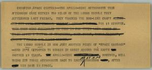 Primary view of object titled '[News Script: Houston Space Center]'.