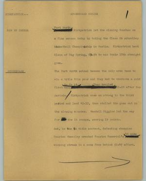 Primary view of object titled '[News Script: Kirkpatrick]'.