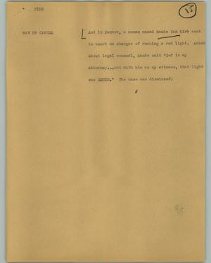 Primary view of object titled '[News Script: Fine]'.