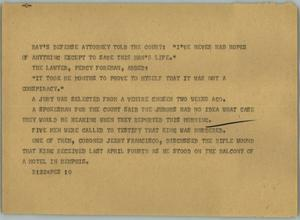 Primary view of object titled '[News Script: Ray]'.
