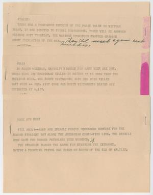 Primary view of object titled '[News Script: Various news]'.