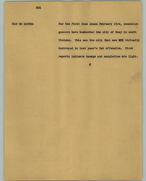 Primary view of object titled '[News Script: Hue]'.