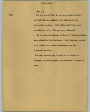 Primary view of object titled '[News Script: Sino-Soviet]'.