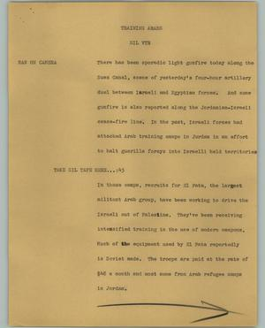 Primary view of object titled '[News Script: Training Arabs]'.