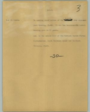 Primary view of object titled '[News Script: N. I. T.]'.