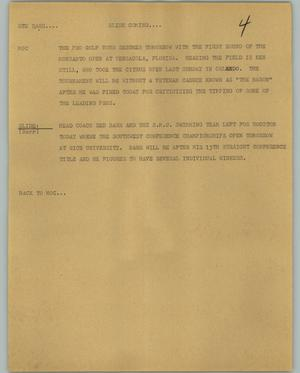 Primary view of object titled '[News Script: Red Barr]'.