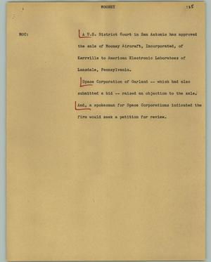Primary view of object titled '[News Script: Mooney]'.