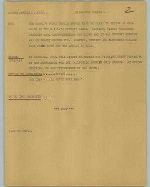 Primary view of object titled '[News Script: Rigney Angels]'.