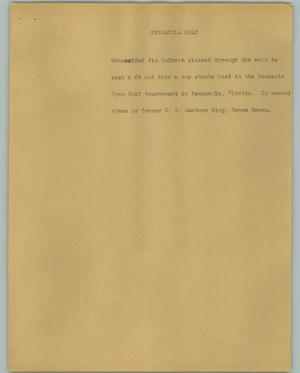 Primary view of object titled '[News Script: Pensacola Golf]'.