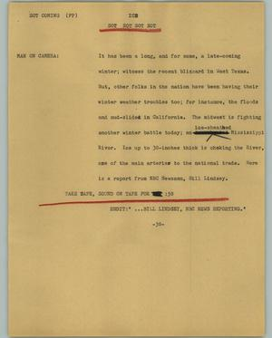 Primary view of object titled '[News Script: ICE]'.