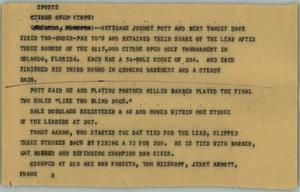Primary view of object titled '[News Script: Sports]'.