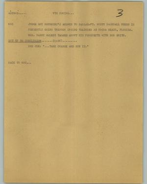 Primary view of object titled '[News Script: Astros]'.