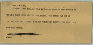 Primary view of object titled '[News Script: Arab - Israeli War]'.