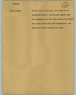 Primary view of object titled '[News Script: Angwiluh]'.